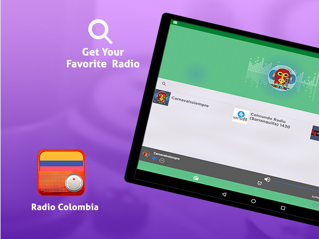 Android Free Colombia Radio AM FM Screen 1