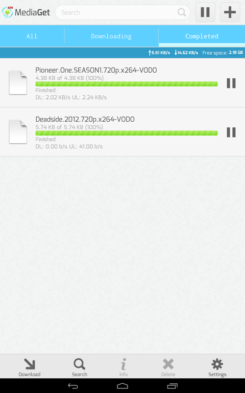 MediaGet 0.9.1 Screen 1