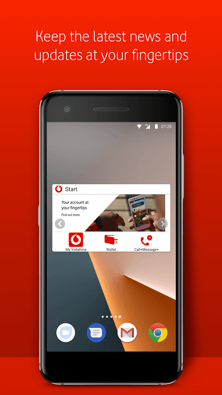 Android Vodafone Start Screen 3
