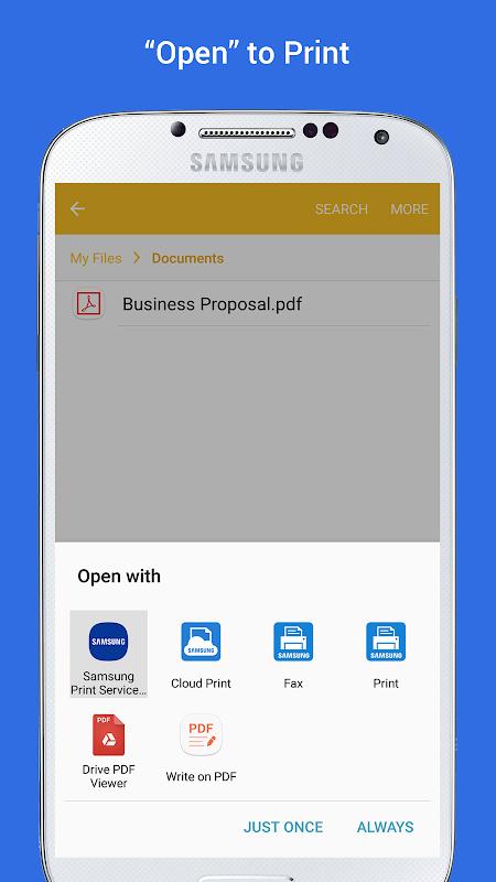 Samsung Print Service Plugin 3.03.180907 Screen 2