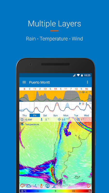 Android Flowx: Weather Map Forecast Screen 2