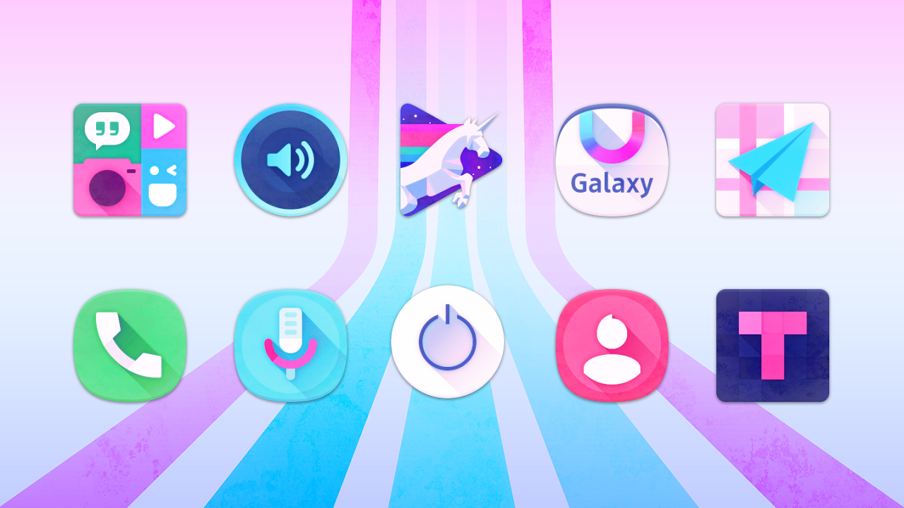 Android Unicorn Icon Pack Screen 2