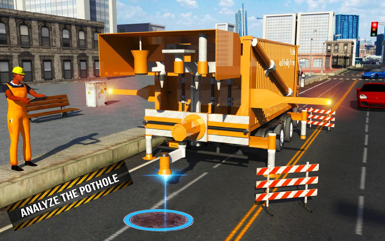 Pothole Repair Heavy Duty Truck: Road Construction 1.3 Screen 5