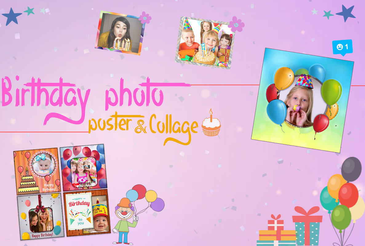 Android Birthday Photo Poster Collage Screen 7