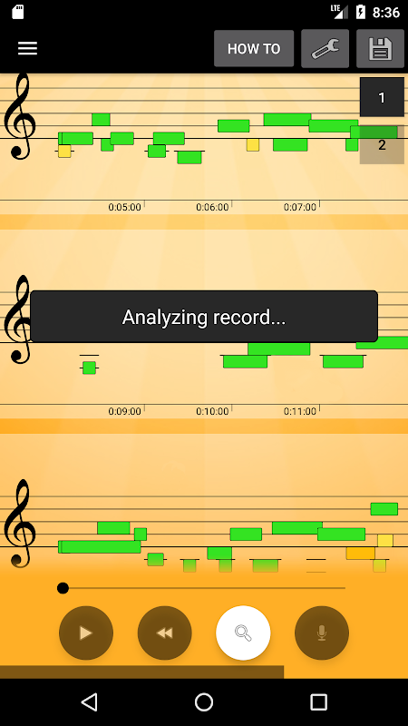 Android Note Recognition - Convert Music into Sheet Music Screen 1