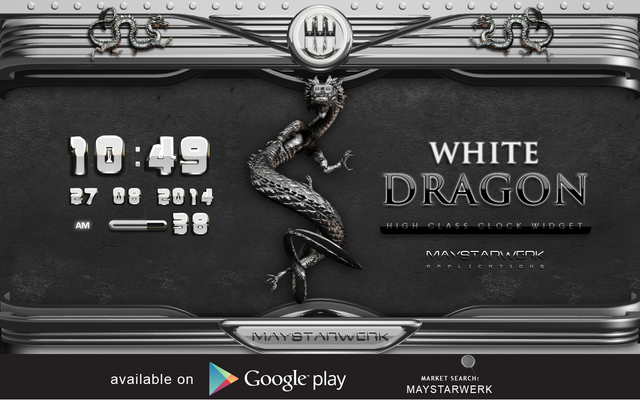 Android Dragon Clock Widget white Screen 8