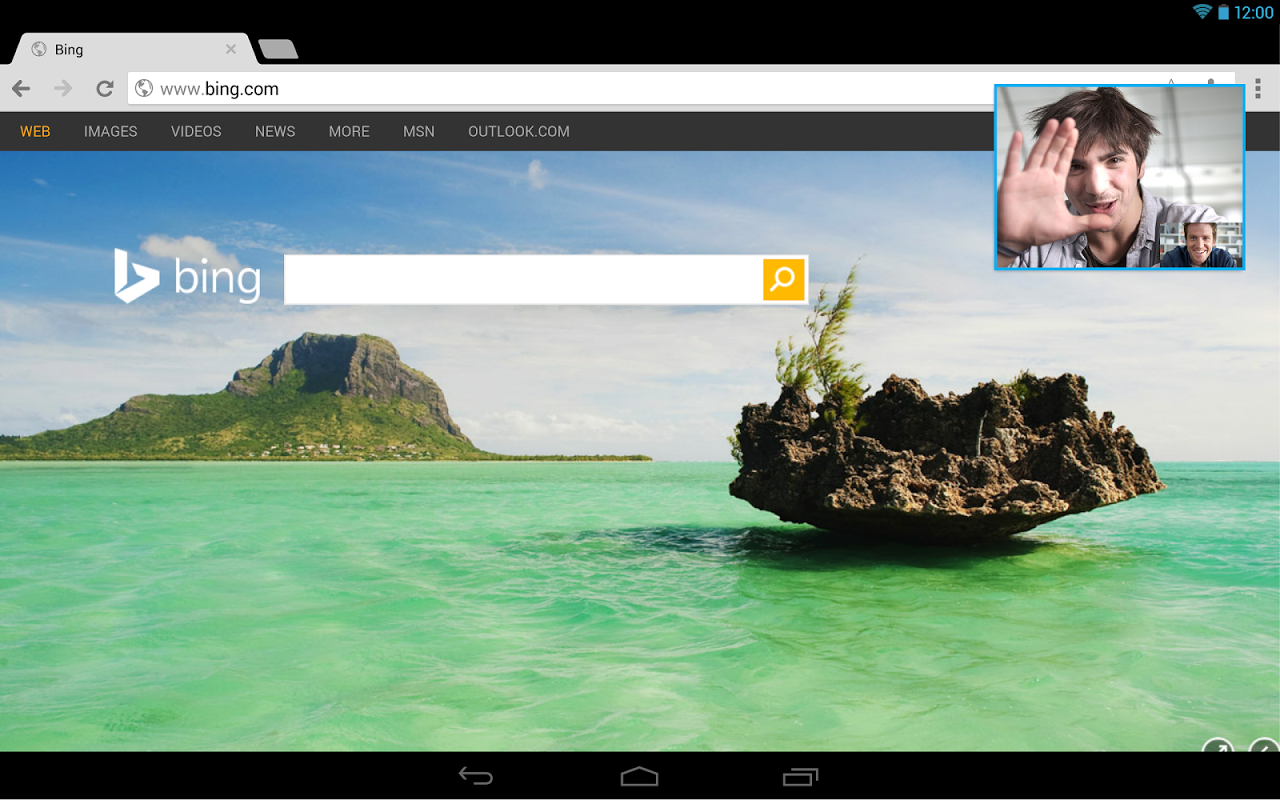 Android Skype Screen 2