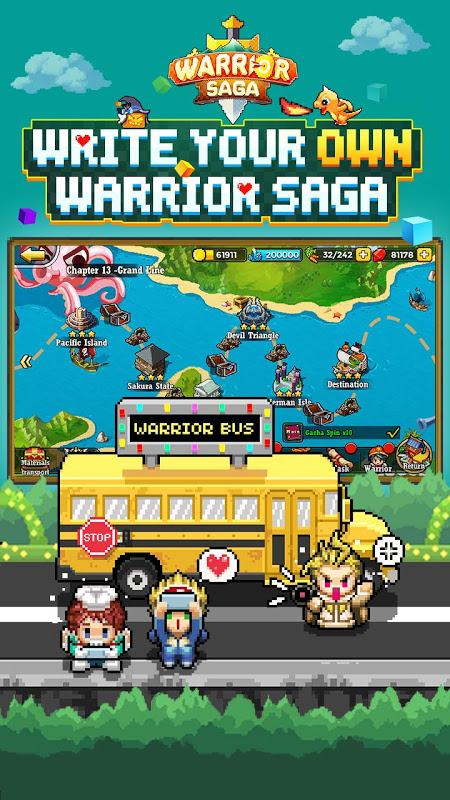 Warrior Saga: NO 1 Free Pixel MMORPG in 2018 APKs | Android APK