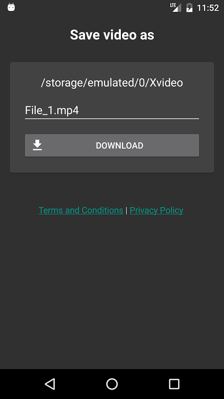 Android FVD - Free Video Downloader Screen 2