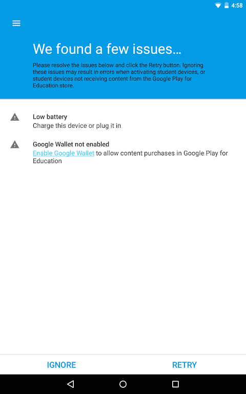 Android Android Device Enrollment Screen 1