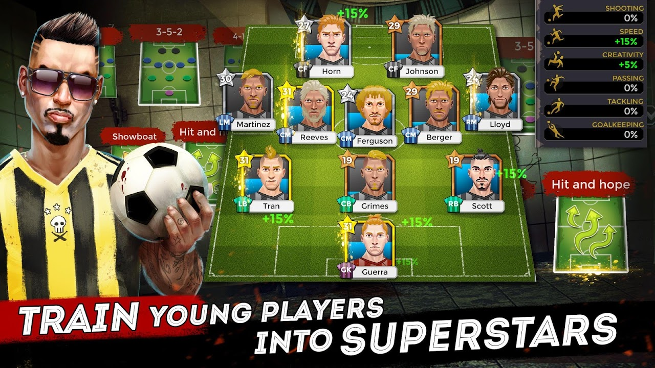 Android Underworld Football Manager - Bribe, Attack, Steal Screen 2