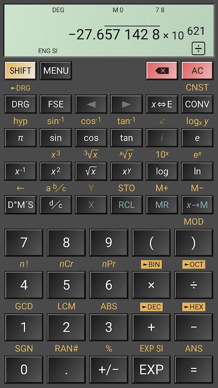 HiPER Scientific Calculator 6.1 Screen 2