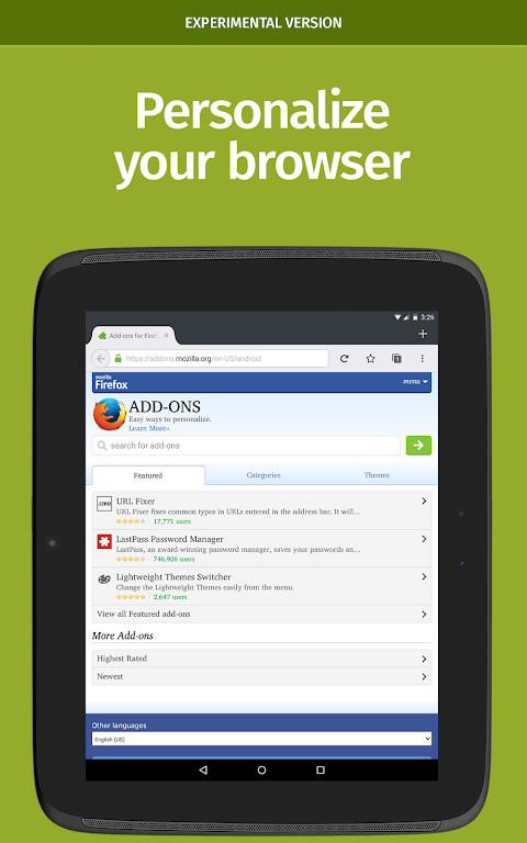 Android Firefox Nightly for Developers (Unreleased) Screen 8