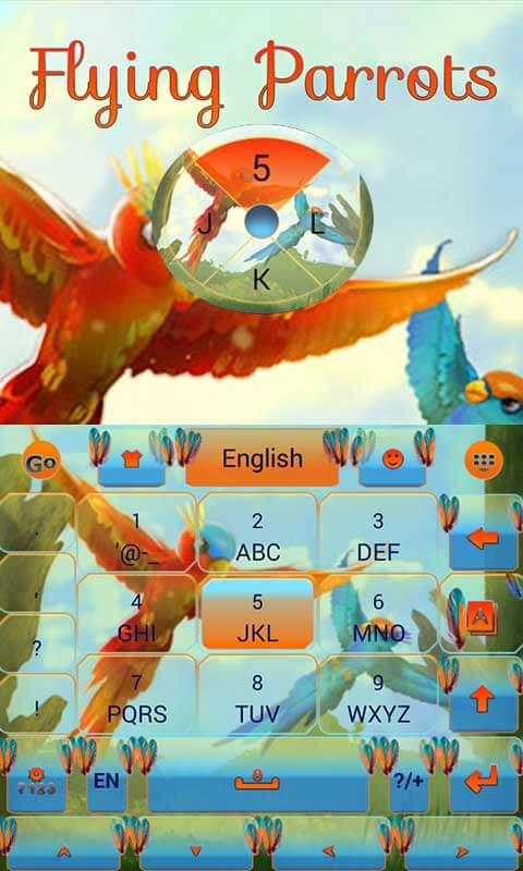 Android Flying Parrot Keyboard Theme Screen 2