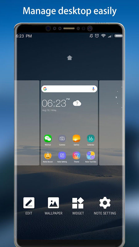 Android Note 8 Launcher - Galaxy Note8 launcher, theme Screen 1