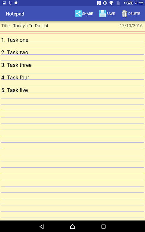 Notepad 1.6 Screen 6