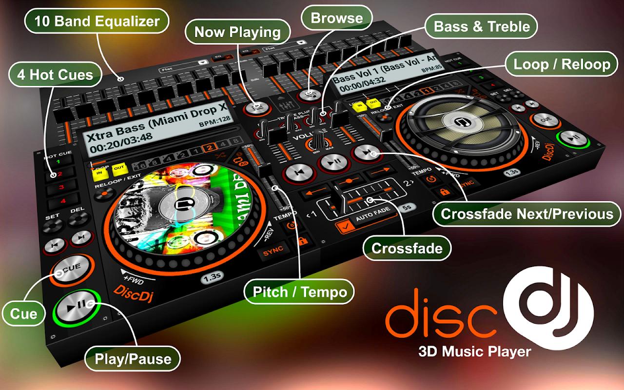 DiscDj 3D Music Player - Dj Mixer v4.005s Screen 16