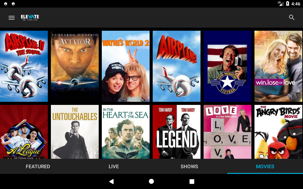 Android Elevate TV Screen 10