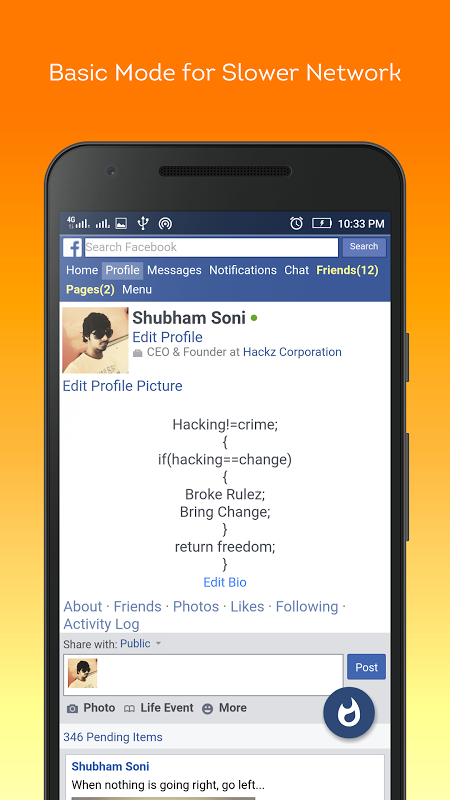 Lite Messenger FB- Facebrio 7.0.3 Screen 3
