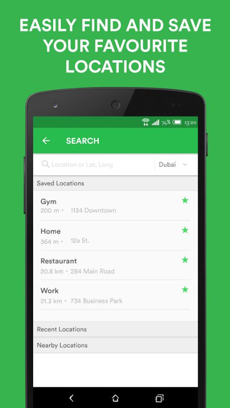 Android Careem - Car Booking App Screen 4