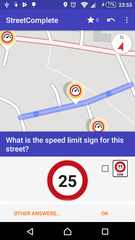 StreetComplete 3.2 Screen 1