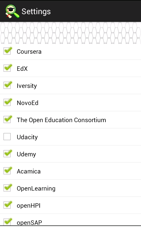 Android Course Finder Screen 3