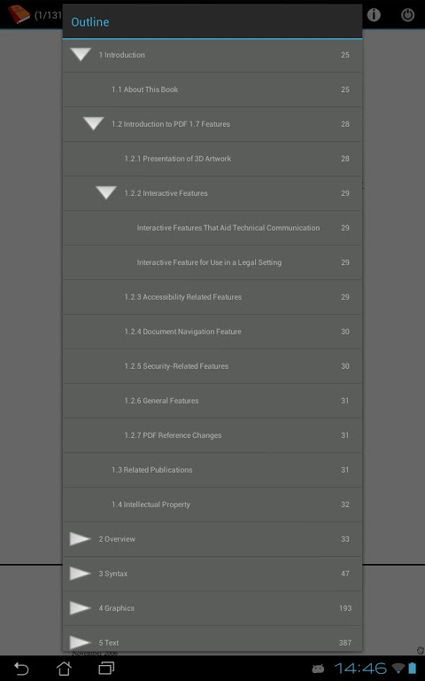 Android PDF and DJVU Reader Screen 19