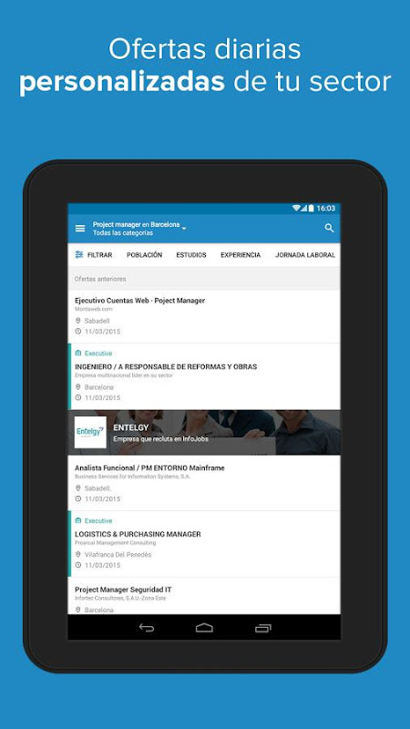 Android InfoJobs - Job Search Screen 10