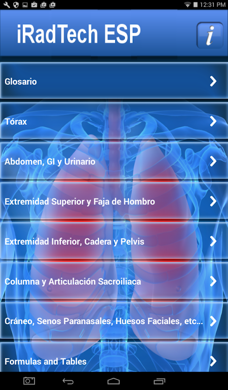 iRadTech ESP 1.2.1 Screen 1