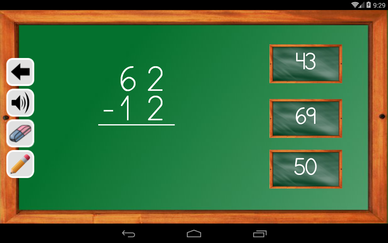 Android Maths Trainer Screen 12