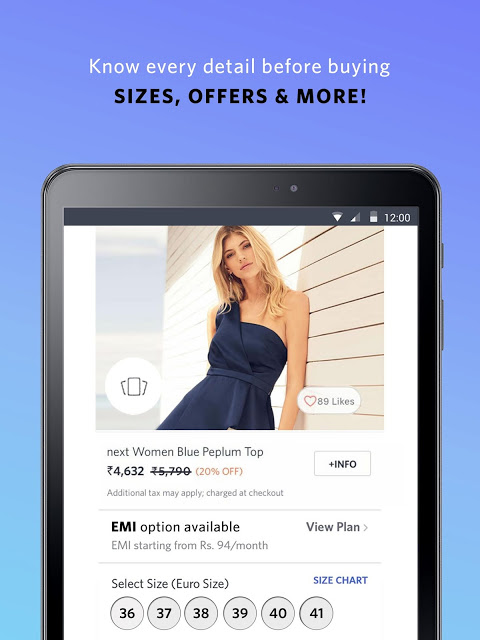 Android Myntra Online Shopping App Screen 16