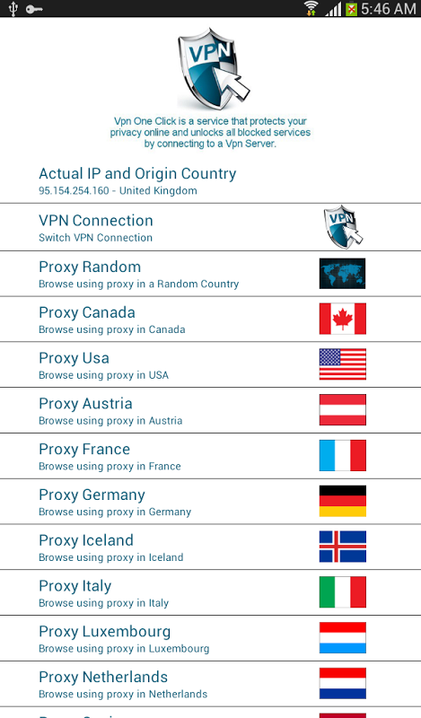 Android Vpn One Click Screen 4