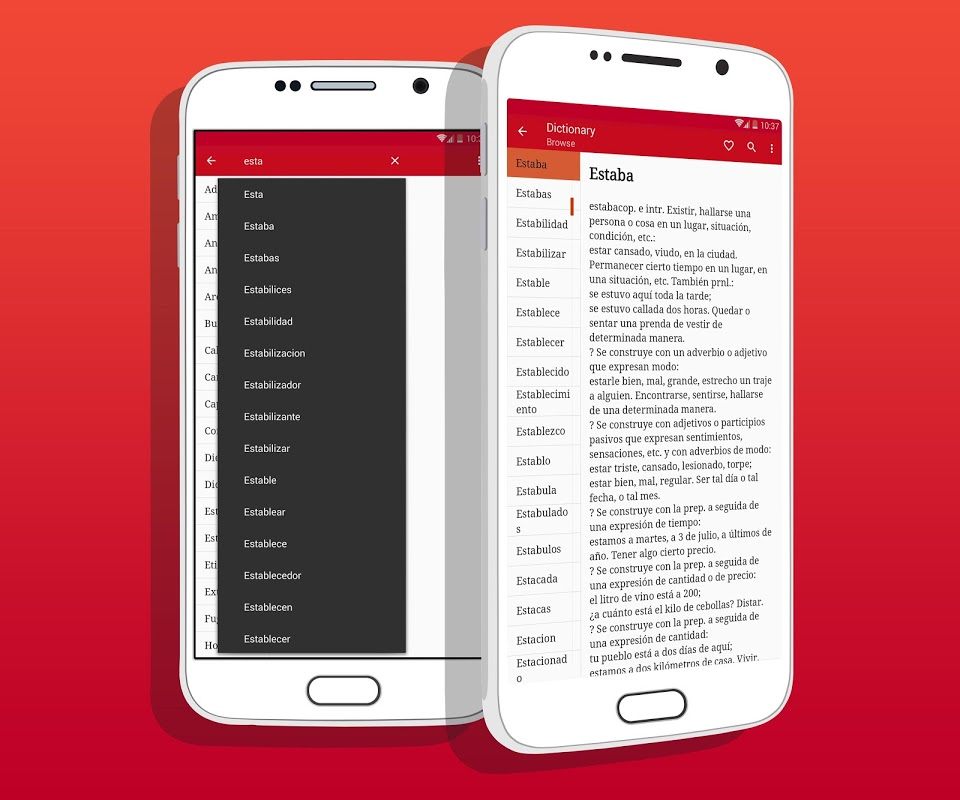 Android Spanish Dictionary Screen 3