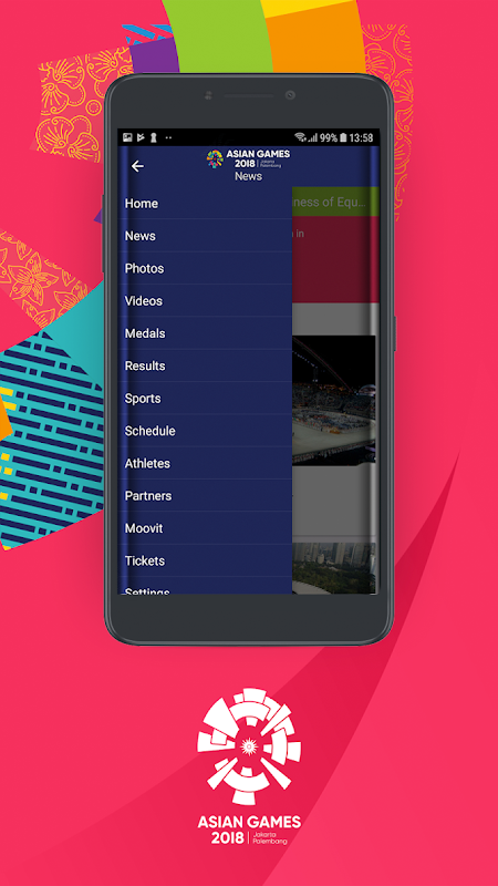 Android 18th Asian Games 2018 Official App Screen 1