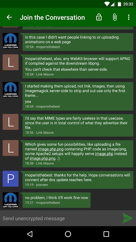 Conversations (Jabber / XMPP) 1.23.3 Screen 6