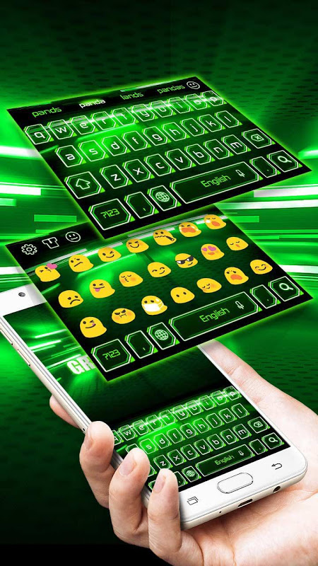 Android Green Light Keyboard Screen 2