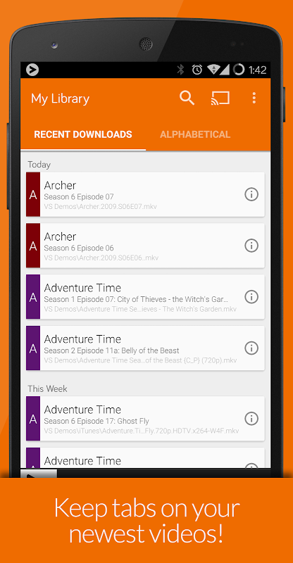 Videostream Chromecast: Mobile 1.18.02.27 Screen 6