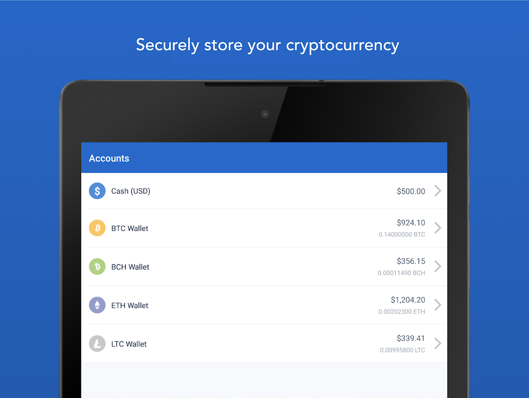 Android Bitcoin Wallet - Coinbase® Screen 7