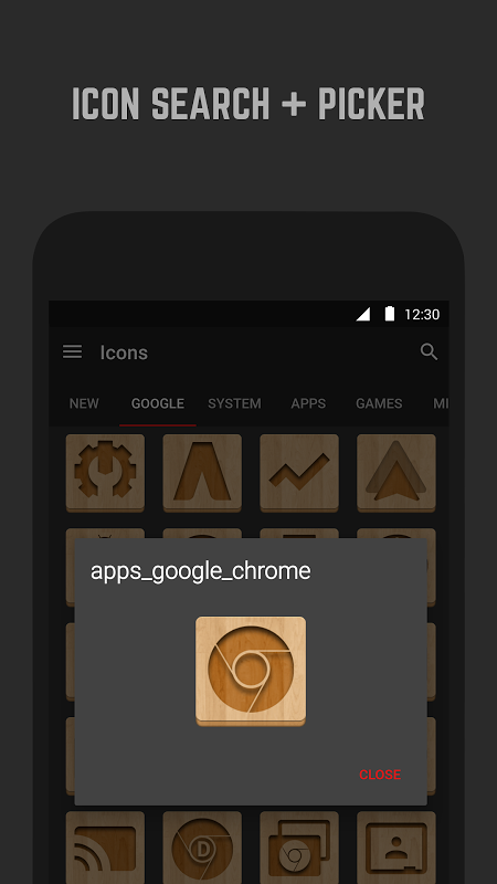 Android Wood Icon Pack Screen 5