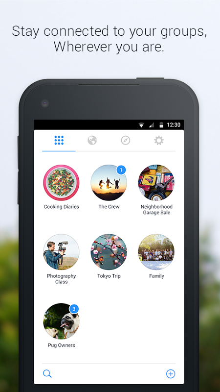 Android Groups Screen 1