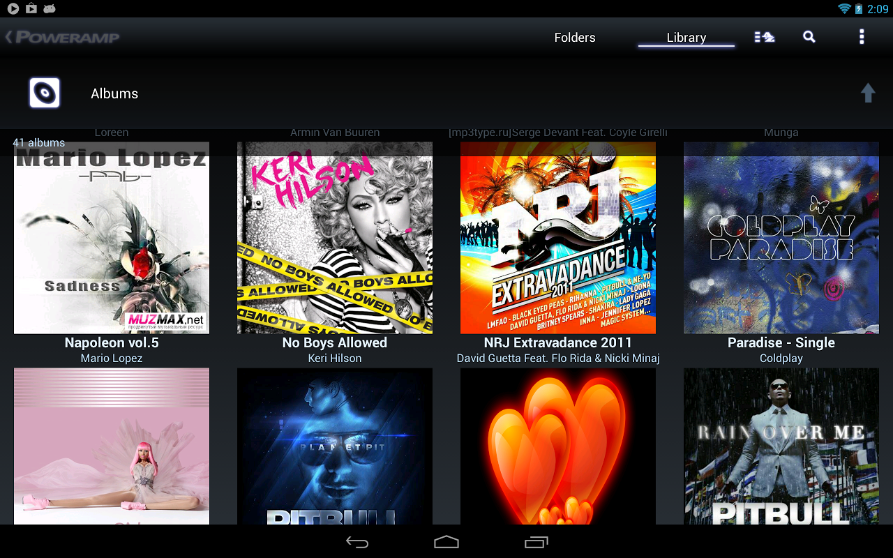 Poweramp 2.0.10-build-860589-x86-play Screen 1