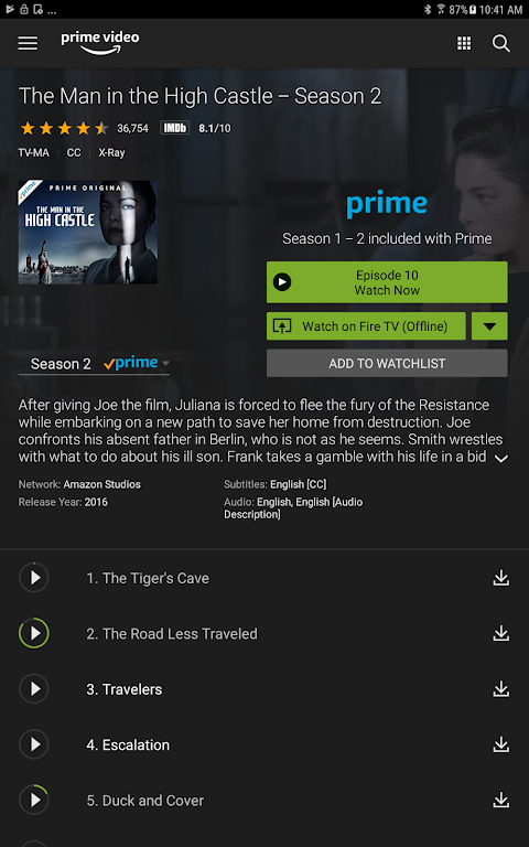 Android Amazon Prime Video Screen 5