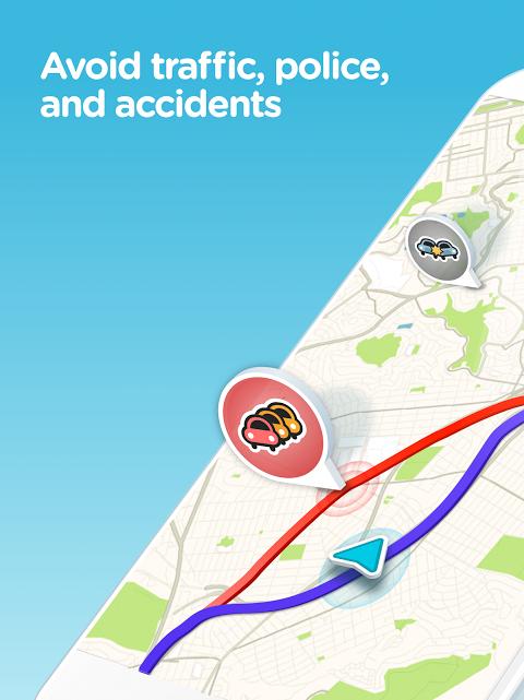 Android Waze - GPS, Maps, Traffic Alerts & Sat Nav Screen 5