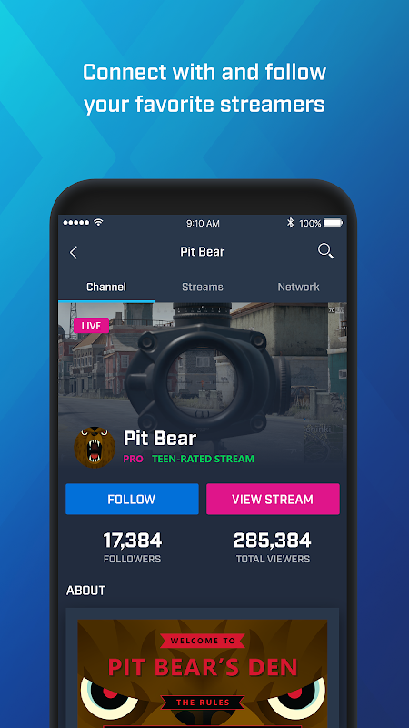 Mixer – Interactive Streaming 3.4.1 Screen 3