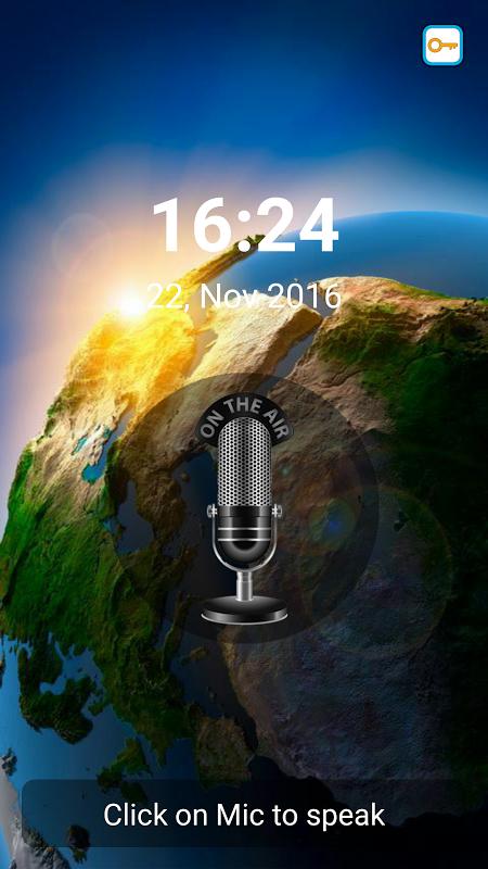 Unlock screen by voice! 2.0 Screen 3