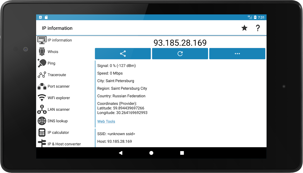 Android IP Tools: WiFi Analyzer Screen 9