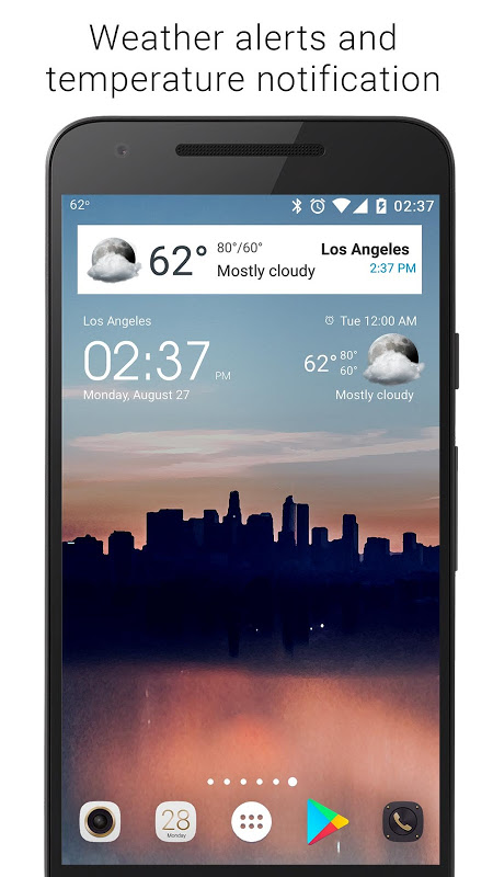 Android Transparent clock weather Premium Screen 12