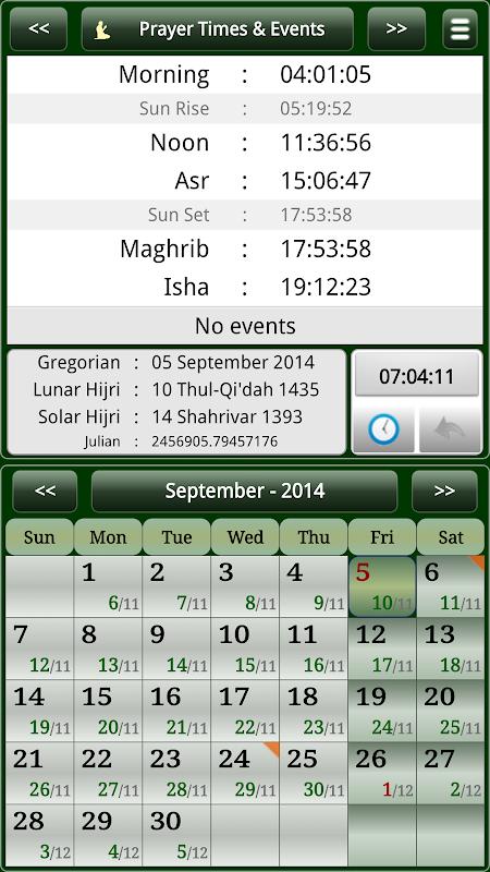 Sun & Moon Calendar v3.6.0 Screen 12