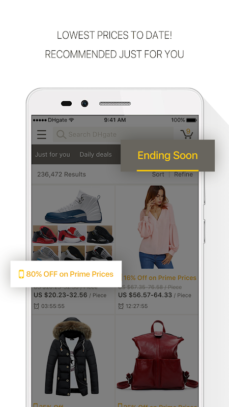 DHgate-Popular Fashion Shopping with Coupon Codes 4.6.4 Screen 1
