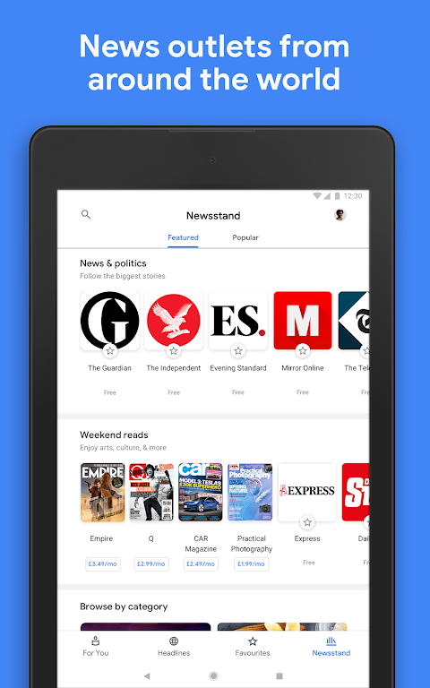 Android Google Play Newsstand Screen 10